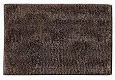 Reversible Dark Brown Plush Pile Throw Rug 17x24 Cotton Bath Mat