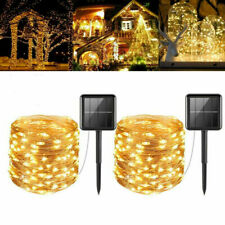 20M 200LED Solar Outdoor String Rope Lights Copper Wire Fairy Xmas Party Decor