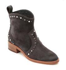 Dolce Vita Size 8.5 Tobin Studded Bootie Gray Suede Mid-Calf Boot Womens New