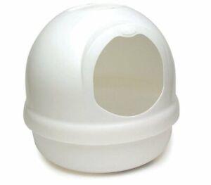Booda Dome Cat Litter Box Pearl White Large