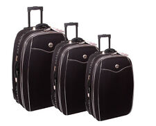 Reisekoffer, Koffer, Trolly, Set, Brilliant, mit Dehnfalte 3tlg. dunkelblau