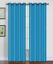 """Winry Solid Faux Silk Window Curtain Grommet Single Panel 55"""" Extra Wide Drapes"""