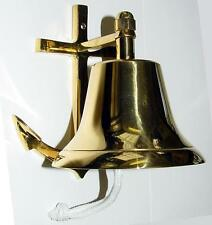 NAUTICAL ANCHOR BELL SOLID POLISHED BRASS