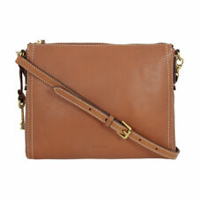 ee421bb5f Fossil Emma EW Dark Brown Leather Crossbody Bag 2b6842