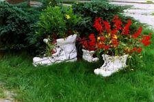 Blumenkübel Pflanz Kübel Dekoration Figur Blumentöpfe Garten Vasen Schuh Neu 158