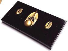 Star Trek Bajor Major Kira Rank Pin Set of 3 w Display- Cosplay (Trk-Bj-Set-3)