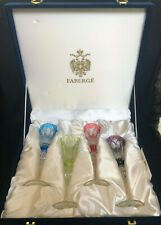 Faberge Crystal Champange Flutes in the Original Box