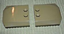 (2) 4x4 Olive Green Auto Car / Roof / Hood Tile Bricks ~ Lego ~ NEW