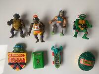 Vintage TMNT Teenage Mutant Ninja Turtles Action Figures Lot - Donatello Etc.