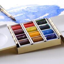 Plein Aire Artist Brass Watercolor Gouache Travel Paint Box Paintbox Palette