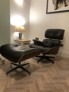 Eames Style lounge chair and footstool