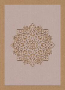 Star Mandala Flower Snowflake Stencil A6 A5 A4 A3 Face Painting Coffee Art