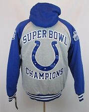 NFL Indianapolis Colts Men's Medium Team Thermal Hooded Sweatshirt Jacket