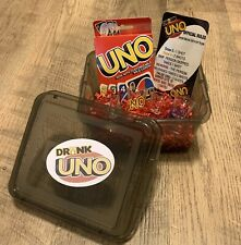 Drunk Uno Drinking Card Game Adult Uno Game Set W/Shot Glass & Storage Box