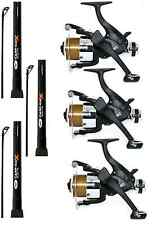 CARP FISHING SET UP 3 X 12FT CARP FISHING RODS + 3 X EG60 CARP RUNNER REELS