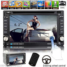"6.2"" Double 2 Din Car CD DVD Player Touchscreen FM/AM USB/SD/TV Bluetooth Radio"