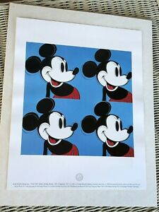 Andy Warhol Myths:Mickey Mouse Lithograph Disney Warhol Pop Art Mickey in Blue
