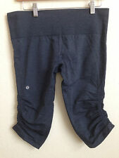 Lululemon In the Flow Crop Pant Heathered Blue Gray size 12 or L