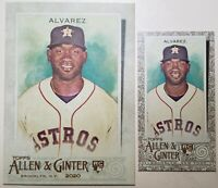 2020 Allen & Ginter Yordan Alvarez Base + Mini Gold Rookie Cards Houston Astros