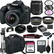 Canon EOS 2000D (Rebel T7) DSLR Camera with 18-55mm f/3.5-5.6 Zoom Lens + + 128G
