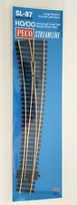Peco Points SL-87 CODE 100 Large Radius curved L/H - HO / OO Model trains