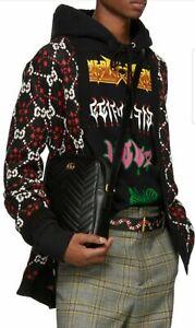 Gucci Men's Black Marmont Matelasse Crossbody Messenger Bag