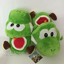 Super Mario Bros. Yoshi Plush Slippers Soft Shoes Stuffed Toy 26cm US Size 6~8