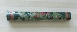 Wallpaper Border YORK 5 Yard Pre-Pasted Decorative FLORAL Green Background NEW