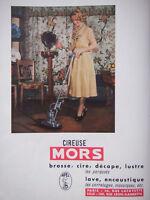 PUBLICITÉ DE PRESSE 1951 CIREUSE MORS APPAREILS MÉNAGERS - ADVERTISING
