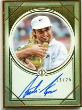 2020 Topps Transcendent Tennis Hall of Fame ANDRE AGASSI Gold Framed Auto #19/25