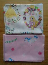 Fat Quarter Bundle of 2 Fabrics Unicorns & Princesses 100% Cotton Fabric Craft
