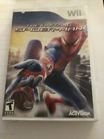 The Amazing Spider-Man (Nintendo Wii, 2012) Complete Game Disc with Manual