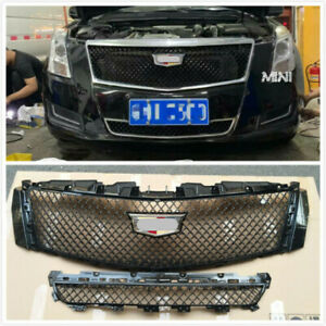 For 2013-2017 Cadillac XTS Bumper Radiator Grilles Lower + Upper Grill Cover