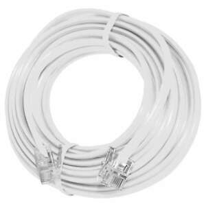 GE 86192 15 Ft Telephone Modem Fax Caller Id Extension Line Cord - White