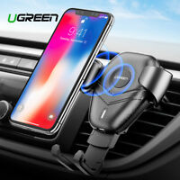Ugreen Gravity Car Mount Holder Air Vent Qi Wireless Fast Charger Fr iPhone X 8