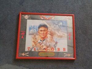 Vintage Baseball TY COBB Detroit Tigers Seagram's 7 Bar Mirror Man Cave SWEET