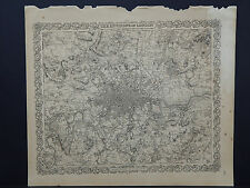 Colton's Maps, 1855, Authentic, Environs of London #1
