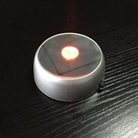 3D Round Crystal Glass Laser 4 LED Battery Electric Light Up Stand Base.US