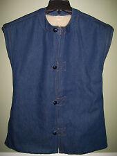 Vintage Levi Strauss Reversible Sherpa Lined Denim Vest **Very RARE** S - M