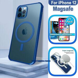 MAGNETIC MAGSAFE Case For iPhone 12 Pro Max Mini + 2 x Tempered Glass Protrector