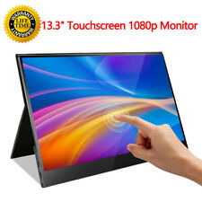"New 13.3"" IPS 1080P USB Type-C USB-C Ultra Touch Screen Portable Monitor Display"