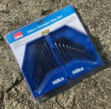 Hilka 30pc Hex Key Set - Hexagon Allen Key - Metric & AF - Folding Plastic Case