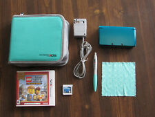 Nintendo 3DS Console - Aqua Blue With Games,case and pen