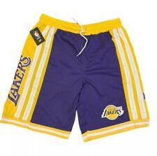 Los Angeles LA Lakers Basketball Shorts Men's Size XL NBA Purple Yellow New NWT