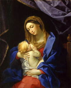 Guido Reni Madonna and Child Poster Reproduction Paintings Giclee Canvas Print