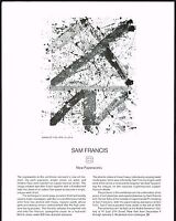 1970s Vintage Sam Francis Emmerich Art Gallery Paperworks Exhibition Print Ad