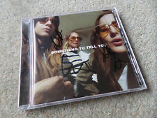 HAIM - Something To Tell You 11 Track 2017 **SIGNED** CD NEW RARE!
