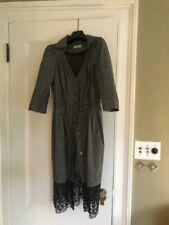NINA RICCI Day To Evening Midi Dress Feminine Navy White Size FR38 Small
