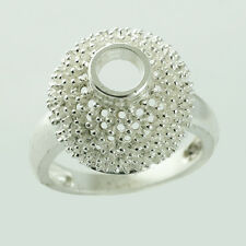Semi Mount Authentic Ring 5 MM Round Shape 925 Silver Engagement Lady Jewelry
