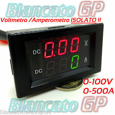 2in1 ISOLATO VOLTMETRO 0-100V AMPEROMETRO 0-500A SHUNT KIT1 isolated ammeter DC